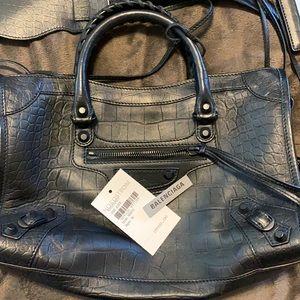 100% Authentic Balenciaga black cross body bag
